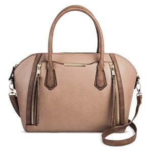 brown target bag